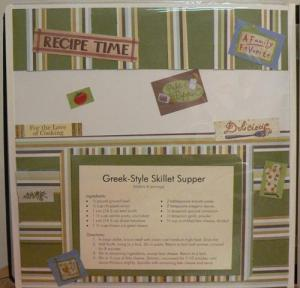 Greek Skillet Supper Recipe Page